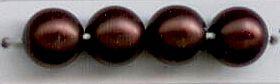 Dark Bronze Satin 2 mm Glass Round Pearls