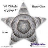 Tutorial 10 Shades of Grey 1 - 3D Peyote Star + Basic Tutorial (download link per e-mail)