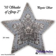 Tutorial 10 Shades of Grey 2 - 3D Peyote Star + Basic Tutorial (download link per e-mail)
