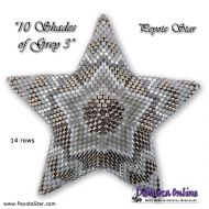 Tutorial 10 Shades of Grey 3 - 3D Peyote Star + Basic Tutorial (download link per e-mail)