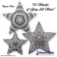Tutorial 10 Shades of Grey All Stars - 3D Peyote Star + Basic Tutorial Little 3D Peyote Star (download link per e-mail)