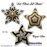 Tutorial Art Deco Flakes All Stars - 3D Peyote Star + Basic Tutorial (download link per e-mail)