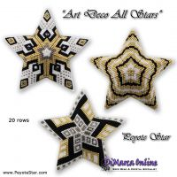 Tutorial Art Deco Flakes All Stars - 3D Peyote Star + Basic Tutorial (download link per e-mail)