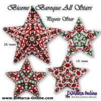Tutorial Bicone Baroque All Stars - 3D Peyote Star + Basic Tutorial (download link per e-mail)