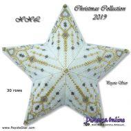 Tutorial Christmas Collection 2019 XXL 3D Peyote Star + Basic Tutorial Little 3D Peyote Star