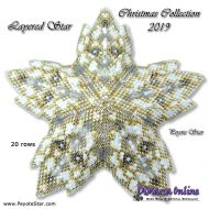 Tutorial Christmas Collection 2019 Layered Star 3D Peyote Star + Basic Tutorial Little 3D Peyote Star