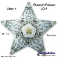 Tutorial Christmas Collection 2019 Star 1 - 3D Peyote Star + Basic Tutorial Little 3D Peyote Star