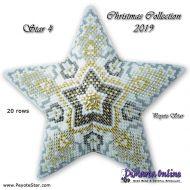 Tutorial Christmas Collection 2019 Star 4 - 3D Peyote Star + Basic Tutorial Little 3D Peyote Star
