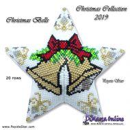 Tutorial Christmas Collection 2019 Christmas Bells - 3D Peyote Star + Basic Tutorial Little 3D Peyote Star
