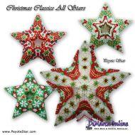 Tutorial Christmas Classics All Stars 4 x - 3D Peyote Star + Basic Tutorial Little 3D Peyote Star (download link per e-mail)