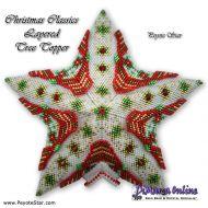 Tutorial Christmas Classics Layered Tree Topper 3D Peyote Star + Basic Tutorial Little 3D Peyote Star