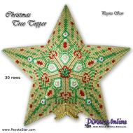 Tutorial Christmas Tree Topper 3D Peyote Star + Basic Tutorial Little 3D Peyote Star