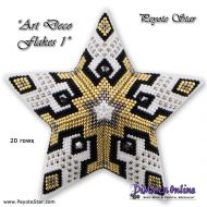 Tutorial Art Deco Flakes 1 - 3D Peyote Star + Basic Tutorial (download link per e-mail)