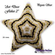 Tutorial Art Deco Flakes 2 - 3D Peyote Star + Basic Tutorial (download link per e-mail)