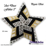 Tutorial Art Deco Flakes 3 - 3D Peyote Star + Basic Tutorial (download link per e-mail)