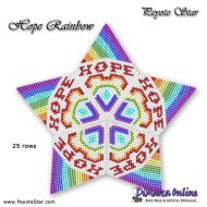 Tutorial Hope Rainbow 3D Peyote Star + Basic Tutorial (download link per e-mail)