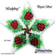 Tutorial Ladybug 3D Peyote Star + Basic Tutorial Little 3D Peyote Star (download link per e-mail)