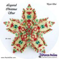 Tutorial Layered Christmas 3D Peyote Star + Basic Tutorial Little 3D Peyote Star (download link per e-mail)