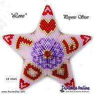 Tutorial LOVE 3D Peyote Star + Basic Tutorial Little 3D Peyote Star