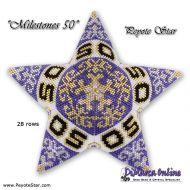 Tutorial Milestones 50 - 3D Peyote Star + Basic Tutorial (download link per e-mail)