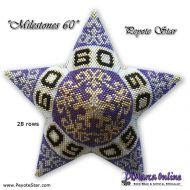 Tutorial Milestones 60 - 3D Peyote Star + Basic Tutorial (download link per e-mail)