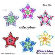 Tutorial Mini Flower Stars x 6 - 3D Peyote Star + Basic Tutorial Little 3D Peyote Star (download link per e-mail)