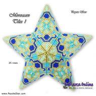 Tutorial Moroccan Tiles 1 - 3D Peyote Star + Basic Tutorial Little 3D Peyote Star (download link per e-mail)