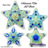 Tutorial Moroccan Tiles All Stars - 3D Peyote Star + Basic Tutorial Little 3D Peyote Star (download link per e-mail)