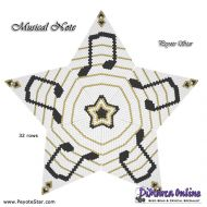 Tutorial Musical Note 3D Peyote Star + Basic Tutorial Little 3D Peyote Star (download link per e-mail)