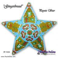 Tutorial Gingerbread 3D Peyote Star + Basic Tutorial Little 3D Peyote Star (download link per e-mail)