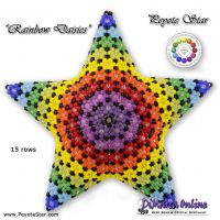 Tutorial Rainbow Daisies 3D Peyote Star + Basic Tutorial (download link per e-mail)