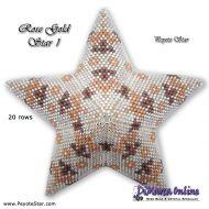 Tutorial Rose Gold 1 - 3D Peyote Star + Basic Tutorial Little 3D Peyote Star (download link per e-mail)
