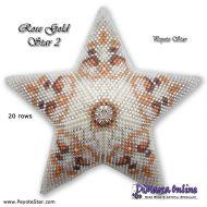 Tutorial Rose Gold 2 - 3D Peyote Star + Basic Tutorial Little 3D Peyote Star (download link per e-mail)