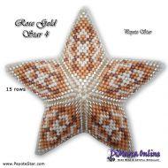Tutorial Rose Gold 4 - 3D Peyote Star + Basic Tutorial Little 3D Peyote Star (download link per e-mail)