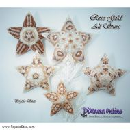 Tutorial Rose Gold All Stars 5 x - 3D Peyote Star + Basic Tutorial Little 3D Peyote Star (download link per e-mail)