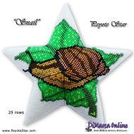Tutorial Snail 3D Peyote Star + Basic Tutorial Little 3D Peyote Star