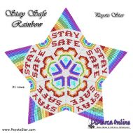 Tutorial Stay Safe Rainbow 3D Peyote Star + Basic Tutorial (download link per e-mail)