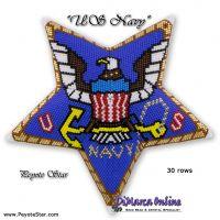Tutorial US Navy 3D Peyote Star + Basic Tutorial (download link per e-mail)
