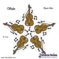 Tutorial Violin 3D Peyote Star + Basic Tutorial Little 3D Peyote Star (download link per e-mail)