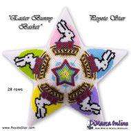 Tutorial Easter Bunny Basket 3D Peyote Star + Basic Tutorial (download link per e-mail)
