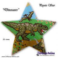 Tutorial Dinosaurs 3D Peyote Star + Basic Tutorial (download link per e-mail)