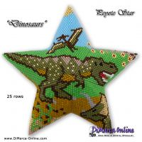 Tutorial Dinosaurs 3D Peyote Star + Basic Tutorial (download link per e-mail)