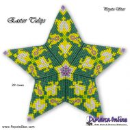 Tutorial Easter Tulips 3D Peyote Star + Basic Tutorial Little 3D Peyote Star (download link per e-mail)