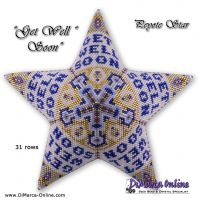 Tutorial Get Well Soon 3D Peyote Star + Basic Tutorial (download link per e-mail)