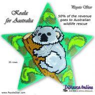 Tutorial Koala 3D Peyote Star + Basic Tutorial Little 3D Peyote Star