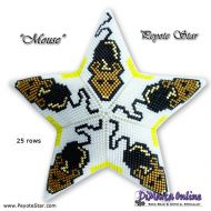 Tutorial Mouse 3D Peyote Star + Basic Tutorial Little 3D Peyote Star