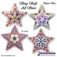 Tutorial Stay Safe All Stars 4 x - 3D Peyote Star + Basic Tutorial Little 3D Peyote Star (download link per e-mail)
