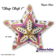 Tutorial Stay Safe 1 - 3D Peyote Star + Basic Tutorial (download link per e-mail)
