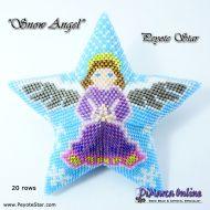 Tutorial Snow Angel 3D Peyote Star + Basic Tutorial Little 3D Peyote Star