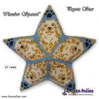 Tutorial Clumber Spaniel 3D Peyote Star + Basic Tutorial (download link per e-mail)